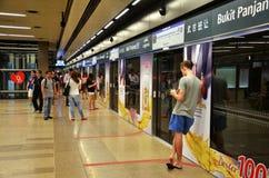 I stadens centrum linje MRT-drev Royaltyfri Fotografi
