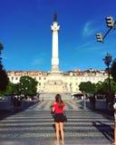 i stadens centrum lisbon Royaltyfri Fotografi