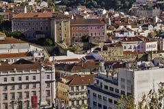 I stadens centrum Lissabon Arkivfoton