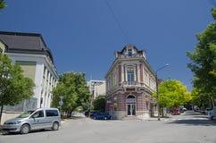 I stadens centrum list Arkivbilder