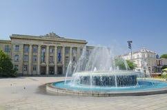 I stadens centrum list - springbrunn Royaltyfria Foton