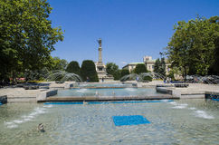 I stadens centrum list - springbrunn Royaltyfri Foto