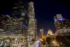 I stadens centrum ljus för Los Angeles gatalandskap Royaltyfri Fotografi