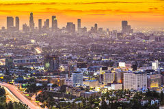 I stadens centrum Los Angeles Royaltyfri Bild