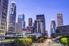 I stadens centrum Los Angeles Arkivbild