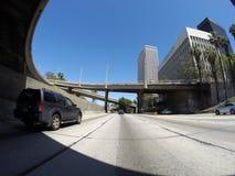 I stadens centrum Los Angeles motorväg Arkivbild