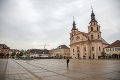 I stadens centrum Ludwigsburg Arkivbilder