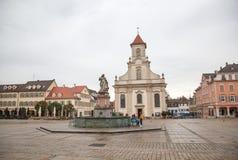I stadens centrum Ludwigsburg Arkivfoto