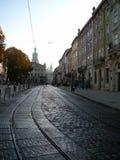 i stadens centrum lviv Royaltyfri Fotografi