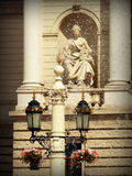 I stadens centrum Lviv Arkivbilder