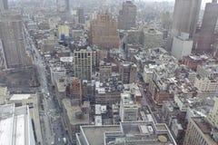 I stadens centrum Manhattan Fotografering för Bildbyråer