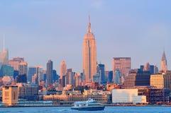 I stadens centrum Manhattan Arkivbild