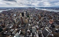 i stadens centrum manhattan för stad ny horisont york Royaltyfri Bild