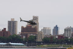 I stadens centrum Manhattan heliport 59 Arkivbild