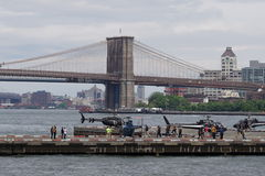 I stadens centrum Manhattan heliport 50 Arkivfoto