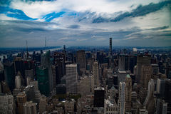 I stadens centrum Manhattan himmelsikt Royaltyfri Fotografi