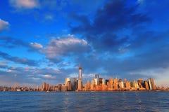 I stadens centrum Manhattan horisont Arkivbild