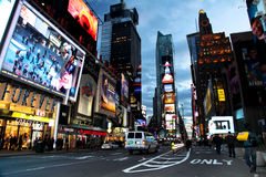 i stadens centrum manhattan New York Arkivfoton