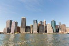 i stadens centrum manhattan panorama Royaltyfri Foto