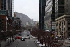 i stadens centrum mcgill montreal quebec för avenyhögskola Arkivfoto