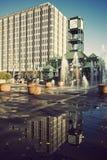 i stadens centrum memphis för klocka torn arkivbild