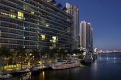 I stadens centrum Miami byggnader royaltyfri fotografi