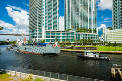 I stadens centrum Miami Cityscape Arkivfoto