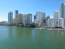 I stadens centrum Miami, Florida horisont Royaltyfri Fotografi