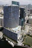 I stadens centrum Miami flyg- bild Royaltyfri Foto