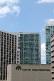 I stadens centrum miami highrises Royaltyfri Fotografi