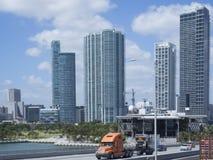 I stadens centrum Miami, USA Arkivfoto