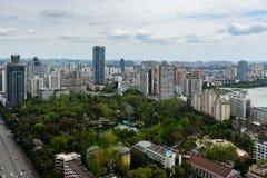 I stadens centrum Miangyang stad Royaltyfri Foto