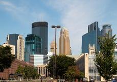I stadens centrum Minneapolis, Minnesota Royaltyfria Bilder
