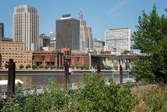 I stadens centrum Minneapolis, Minnesota Arkivbilder