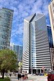 I stadens centrum moderna byggnader av Chicago Fotografering för Bildbyråer