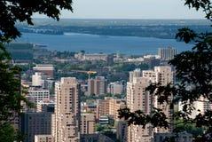 I stadens centrum Montreal Arkivfoto