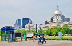 I stadens centrum Montreal och Bonsecours marknad i Quebec Royaltyfri Fotografi