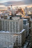 I stadens centrum morgonsikt Arkivfoton
