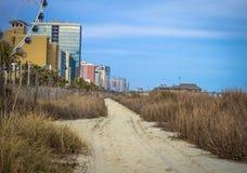 I stadens centrum Myrtle Beach Royaltyfri Fotografi
