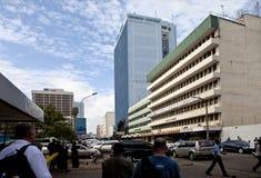 i stadens centrum nairobi Arkivbild