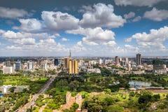 I stadens centrum Nairobi - huvudstad av Kenya Royaltyfri Fotografi