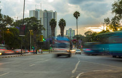 I stadens centrum Nairobi, Kenya Royaltyfri Bild