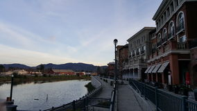 I stadens centrum Napa Valley Arkivbilder