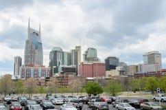 I stadens centrum Nashville från Nissan Stadium Royaltyfri Foto