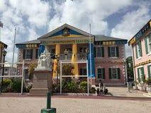 I stadens centrum Nassau Fotografering för Bildbyråer