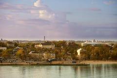 I stadens centrum nassau bahamas royaltyfri foto