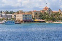 I stadens centrum Nassau, Bahamas Royaltyfria Foton