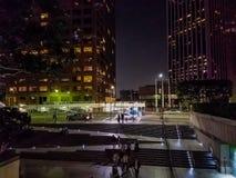 i stadens centrum natt Royaltyfri Fotografi