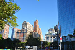 I stadens centrum New York Arkivfoto