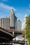 I stadens centrum New York skyskrapa Royaltyfri Fotografi